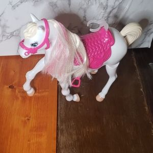 BARBIE Horse 2012 Mattel 🎯 pink and white